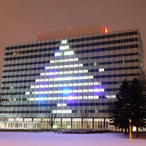3M Spruces up Building 220 Christmas Tree with Dichroic